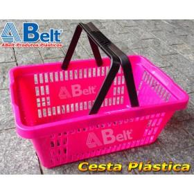 Cesta Plástica CP16 na cor rosa pink (1 unidade)