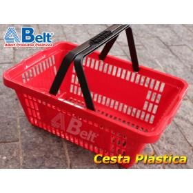 Cesta Plástica CP16 na cor vermelha (1 unidade)