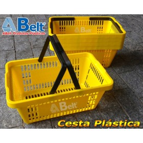 Cesta Plástica CP16 na cor amarela (10 unidades)