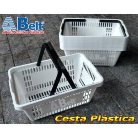 Cesta Plástica CP16 na cor branca (20 unidades)