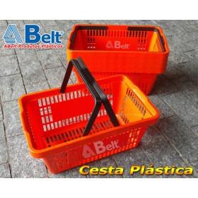 Cesta Plástica CP16 na cor laranja (10 unidades)