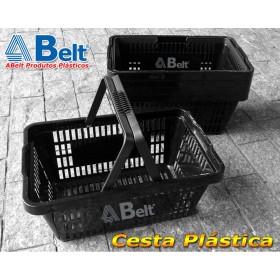 Cesta Plástica CP16 na cor preta (10 unidades)
