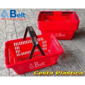 Cesta Plástica CP16 na cor vermelha (10 unidades)
