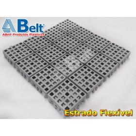 Estrado Flexivel Modular 24x24cm na cor cinza