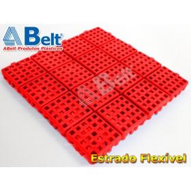 Estrado Flexivel Modular 24x24cm na cor vermelha