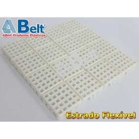Estrado Flexivel Modular 24x24cm na cor branca
