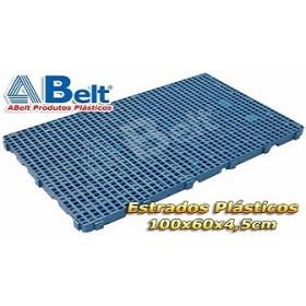 Estrado Plástico 60 x 100 x 4,5 cm na cor azul