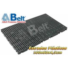 Estrado Plástico 60 x 100 x 4,5 cm na cor preta