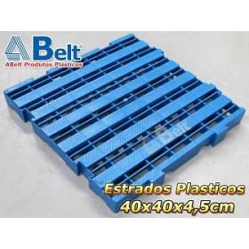 Estrado Plástico 40 x 40 x 4,5 cm na cor azul