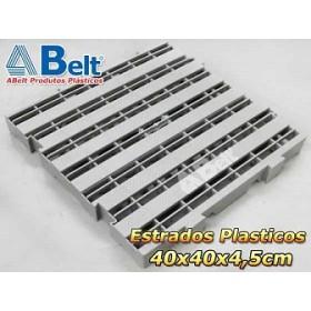 Estrado Plástico 40 x 40 x 4,5 cm na cor cinza