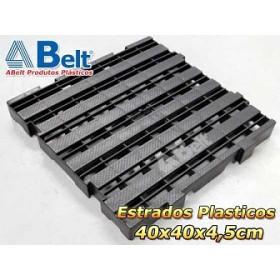 Estrado Plástico 40 x 40 x 4,5 cm na cor preta