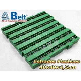 Estrado Plástico 40 x 40 x 4,5 cm na cor verde