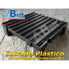 Estrado com prolongador 50 x 50 x 13,5 cm na cor preta
