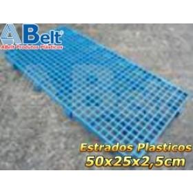 Estrado Plástico 50 x 25 x 2,5 cm na cor azul