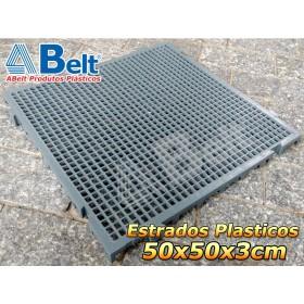 Estrado Plástico 50 x 50 x 3 cm na cor cinza