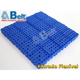 Estrado Flexivel Modular 24x24cm na cor azul