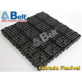 Estrado Flexivel Modular 24x24cm na cor preta