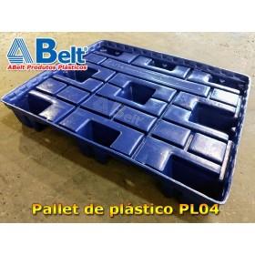 Pallet termoformado PL04-T 1200 x 1000 x 150 mm azul