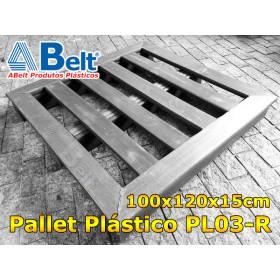 Pallet Plástico PL03-R Reforçado na cor preta