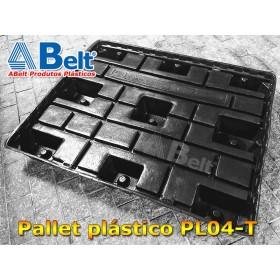 Pallet termoformado PL04-T 1200 x 1000 x 150 mm preto