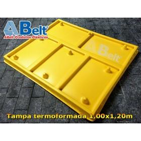 Tampa plástica TP1210 1200x1000x80 mm amarela
