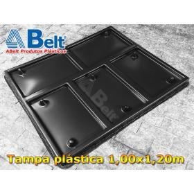 Tampa plástica TP1210 1200x1000x80 mm preta