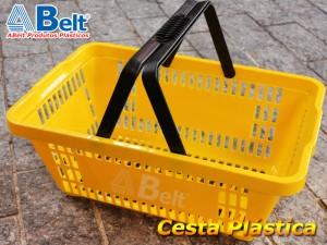 Cesta Plástica Amarela
