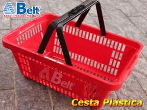 Cesta Plástica Vermelha